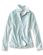 The Women's PRO Hybrid fishing shirt earns props for its rugged performance in the heat.