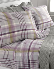 The moody, fog-veiled scenery of Scotland inspired our Highland plaid flannel bedding.