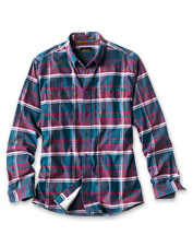 This soft, eco-friendly tech flannel shirt is made using a variety of recycled materials.