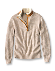 Lambswool offers warmth and breathability to the precisely designed Stowe Quarter-Zip Sweater.