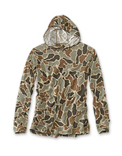 Hitting the water in our Hunting drirelease Camo Hoodie promises cool, dry comfort all day.
