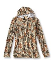 Our Hunting drirelease Camo Hoodie is the ideal performance layer for days in the field.