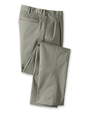 Your search for all-day comfort ends with our wrinkle-free comfort-waist pleated front chinos.