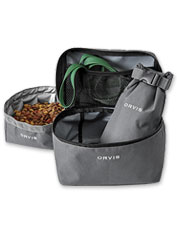Pack your dog's food in this handy Orvis Overnight Travel Kit for easy mealtime on the go.