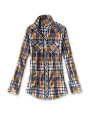 Tackle weekends in the easy comfort of our flawlessly faded, Western-style Washed Plaid Shirt.