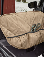 Shield your car's interior from damage with these adjustable door protectors with pockets.
