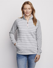 Add a layer of incredible coziness with our Signature Fleece Striped Quarter-Zip sweatshirt.