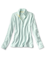 Our striped sunwashed sweatshirt offers the easy comfort of a quarter-zip silhouette.