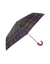 The small and mighty Barbour Tartan Mini Umbrella offers impressive coverage in the rain.