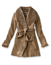 Our Reversible Shearling Coat is a cold-weather style as changeable as the forecast.