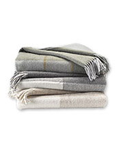 Avoca's tradition of skill and excellence is evident in these handwoven Checked Wool Throws.