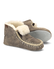 Handcrafted Nova shearling booties from Shepherd of Sweden are made to last a lifetime.