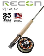 Opt for the Recon 5-Weight 9' 4-Piece Fly Rod and enjoy the maximum in versatility and value.
