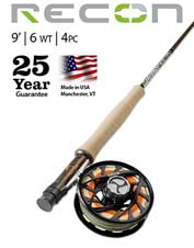 When power and precision matter, opt for the Recon 6-Weight 9' 4-Piece Fly Rod.