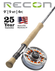 The Recon 9-Weight 9' 4-Piece Fly Rod offers incredible versatility at an approachable price.