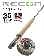 Fish with the delicacy and precision you crave using the Recon 2-Weight 7'6