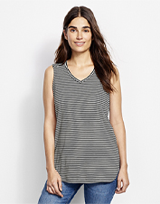 Our linen-blend New Horizons Travel Tank top offers lightweight, on-the-go performance.