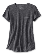 Breezy drirelease fabric blended with Tencel lends our pocket tee more moisture-wicking power.