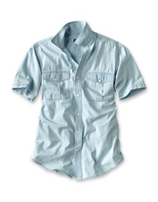 We put our washed Chambray Short-Sleeved Shirt through its paces to make it incredibly soft.