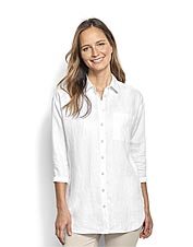 Our Lightweight Linen Big Shirt offers breathable, cooling comfort and plenty of versatility.