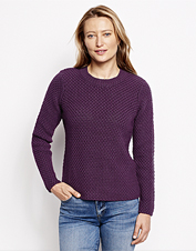 Pair our chunky-knit Natural Wonders Crewneck Sweater with jeans for seasons-spanning comfort.