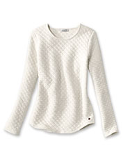 Keep it cozy in this casual Quilted Crewneck Sweatshirt made for easy, comfortable days.
