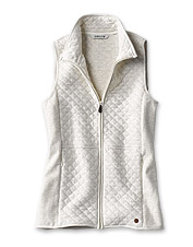 Layer on the comfort in any weather with our seasons-spanning Quilted Sweatshirt Vest.