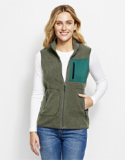 A seasonal chill is no match for the warmth of our cozy, packable Equinox Eco-Fleece Vest.