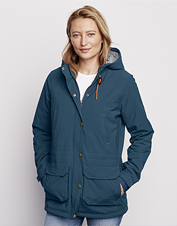 Seal out inclement weather wearing this warm, water-repellent Flathead Fleece Lined Jacket.