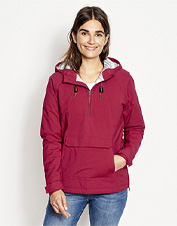 Snowflakes and drizzle can't make it through this water-repellent Flathead Fleece-Lined Anorak.