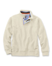Our quarter-zip Signature Sweatshirt is a favorite for informal dinners and casual strolls.