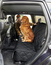 Hose off this durable backseat protector after particularly muddy adventures with your dog.