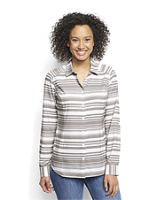 An appealing striped print adds pop to our smart Pack-and-Go long-sleeved travel shirt.
