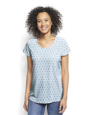 Our Pack-and-Go Short-Sleeved Travel Top dries quickly and resists wrinkles.