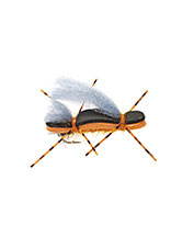 Top water action and fantastic strikes are sure bets with a high-riding Chubby Duo Hopper fly.
