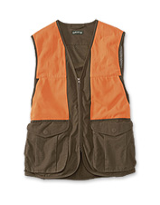 Our upland hunting vest merges classic style with practical functionality.