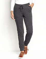 Comfort and casual style are part and parcel of these Supersoft fleece jogger pants.