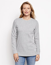 Our Signature Fleece crewneck looks like a sweatshirt, but this one boasts a cozier interior.