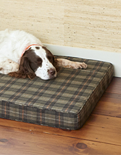 Our Wool Plaid Memory Foam Platform Dog bed is a special place for your best friend to rest.