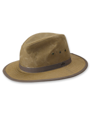 Sport a bold look in our men's handsome oilcoth outback hat.
