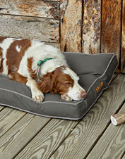Durable softshell fabric keeps this Orvis dog bed comfortable over the long haul.
