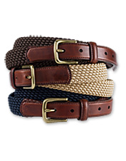 Our traditional braided cord belt delivers comfortable stretch in a men's casual accessory.