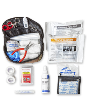 Keep this field-ready Dog First Aid Kit handy to help your hunting companion in an emergency.