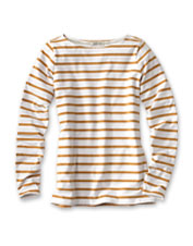 Our flattering, brushed-soft Classic Cotton Boatneck Striped Tee is an enduring favorite.