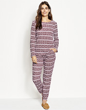 Enjoy the simple delight of relaxing in our lightweight, two-piece Fireside Thermal PJ Set.
