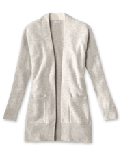 This cardigan earns its place in your wardrobe with open front styling and ultrasoft cashmere.