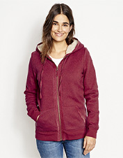 Bring weekend comfort to a whole new level with this ultracozy sherpa fleece-lined hoodie.