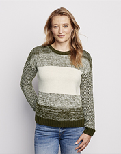 Embrace seasonal change in this soft, warm, and breathable Merino Marled Colorblock Sweater.