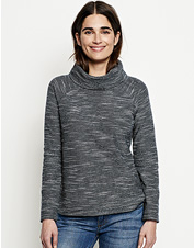 Our Cowlneck Multi Terry Sweatshirt offers cozy downtime comfort in a dressed-up silhouette.