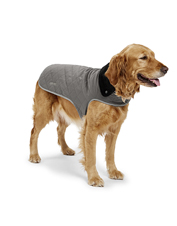 The Thermal Dog Jacket is lightweight, comfortable, and remarkably warm on frosty days.